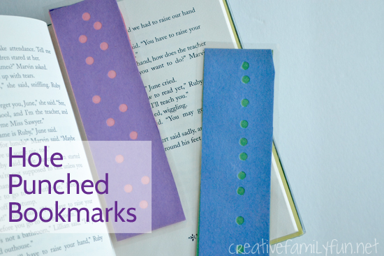 Hole-Punched Bookmark Craft for Kids
