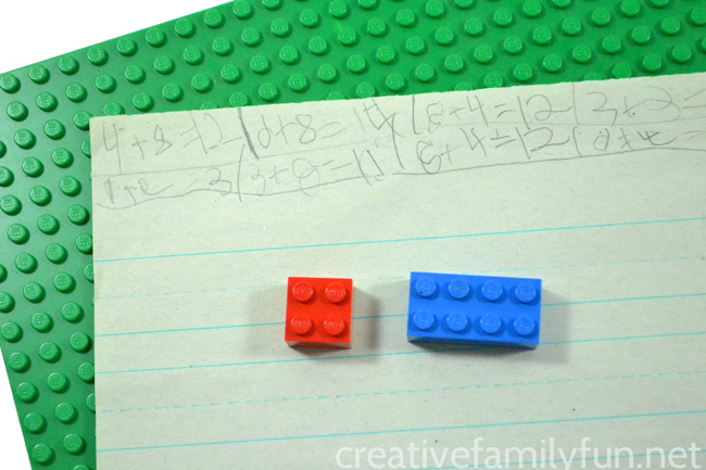 Grab your LEGO bricks and practice addition with this fun hands-on LEGO math game for early elementary kids. It's such a fun way to do math.