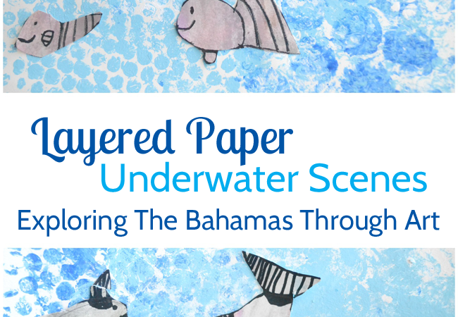 Layered Paper Underwater Scenes: Exploring The Bahamas Through Art