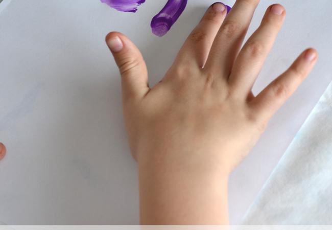 Finger Painting Spelling Words