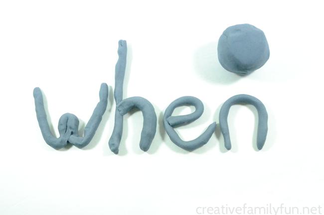 Create Play Dough Spelling Words