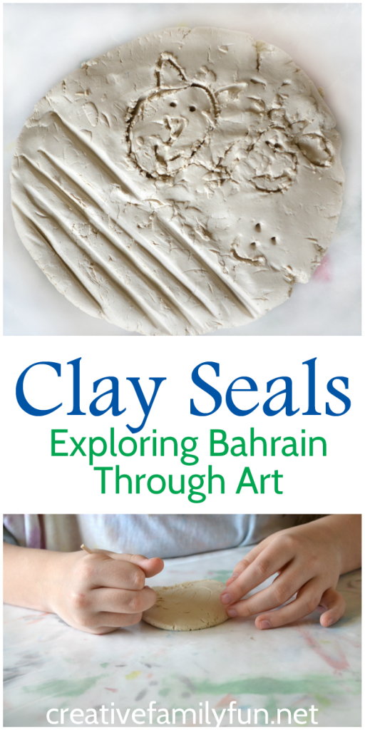 Explore the world through art! Make clay seals inspired by Dilmun seals, an ancient artifact found in Bahrain.
