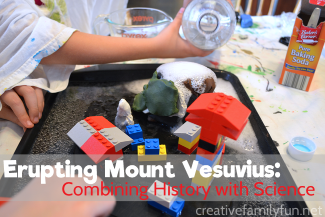 Combine history with science in this fun STEM learning activity for kids. Learn about Pompeii and Mount Vesuvius and create your own volcanic eruptions.