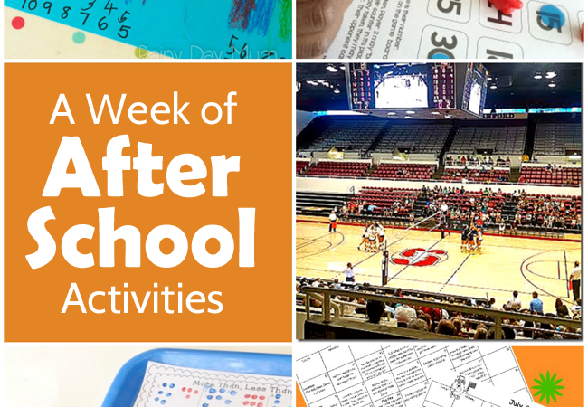A Week of After School Activities Plus the After School Linky Party – Week 36