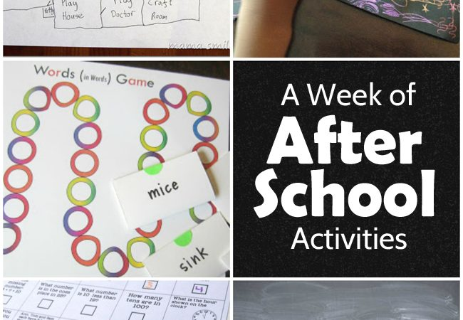A Week of After School Activities Plus the After School Linky Party – Week 37