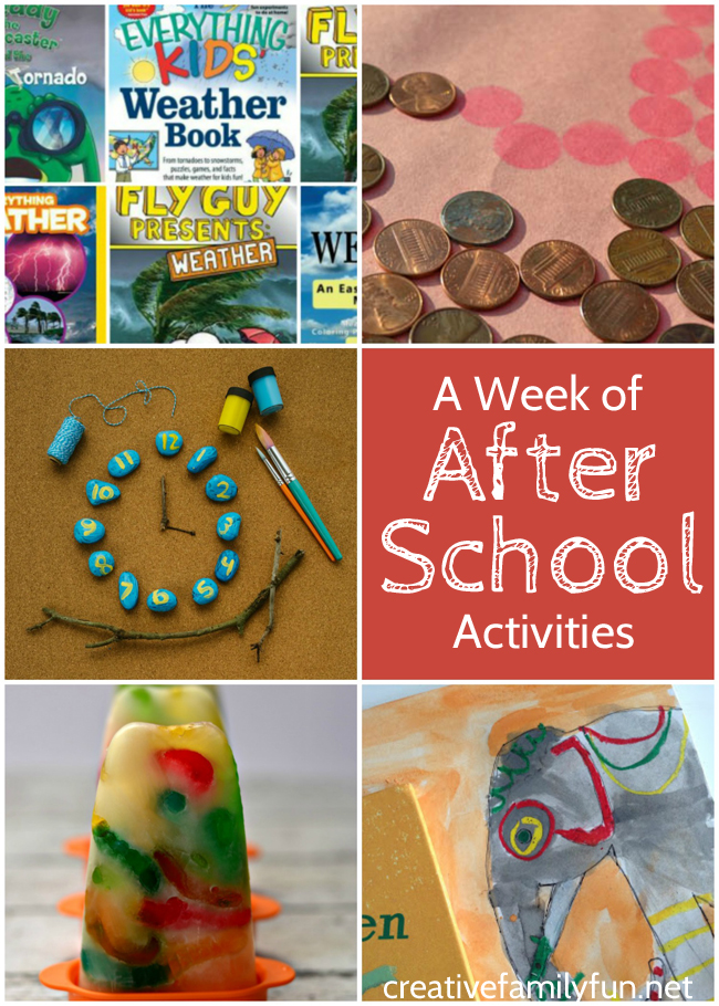 A Week of After School Activities Plus the After School Linky ...