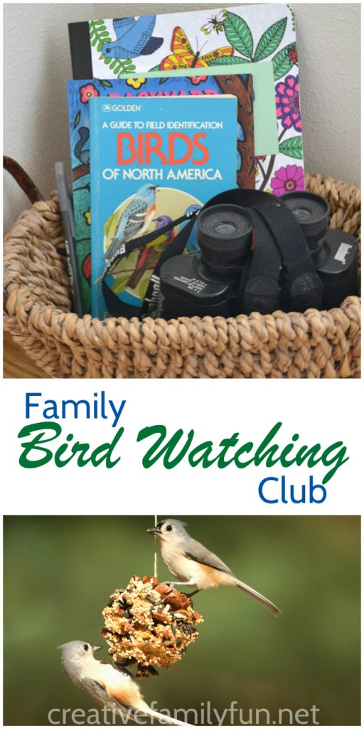 Begin a hobby together with your whole family by starting a family bird watching club. You'll learn together and have fun together.