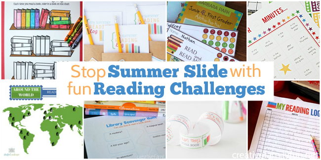 One way to stop summer slide is by encouraging your child to read. These summer reading challenges are perfect to do over break.