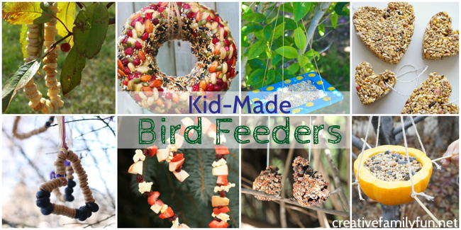 Kid-Made Bird Feeders for a Bird-Friendly Yard