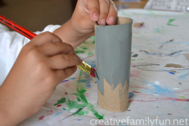 This cardboard tube Elephant craft inspired by the Elephant and Piggie books by Mo Willems is so much fun to make and to play with.