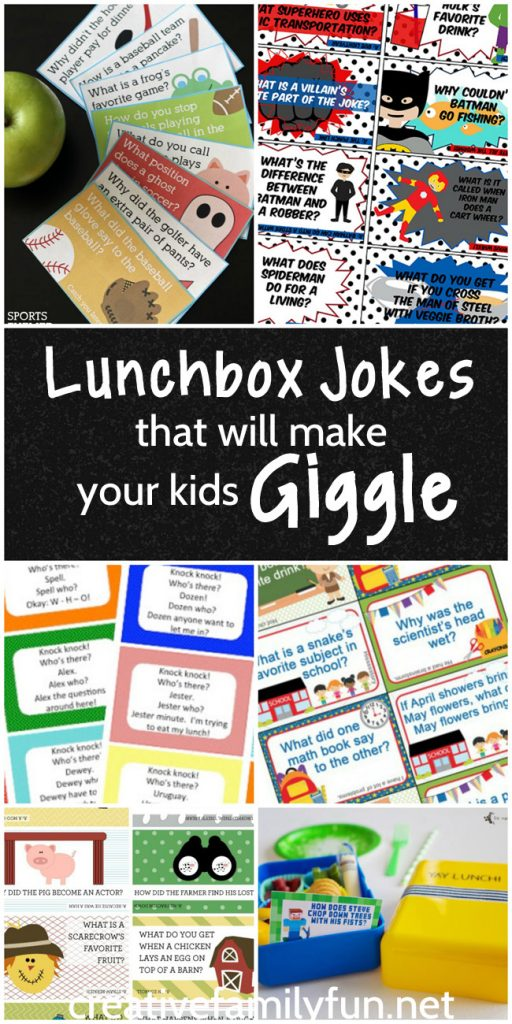 Your kids will love finding one of these lunchbox jokes when they open up their food at lunchtime. There are fun choices for any kid.
