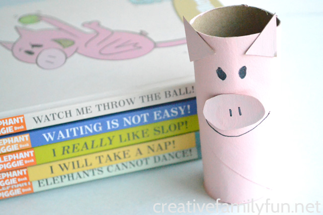 Fun With Elephant & Piggie: Cardboard Tube Piggie