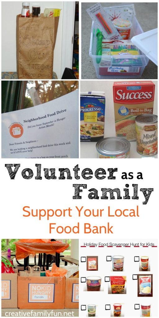 There are many ways to volunteer as a family. One way is to support your local food bank. Here are some ways you and your kids can serve your community.