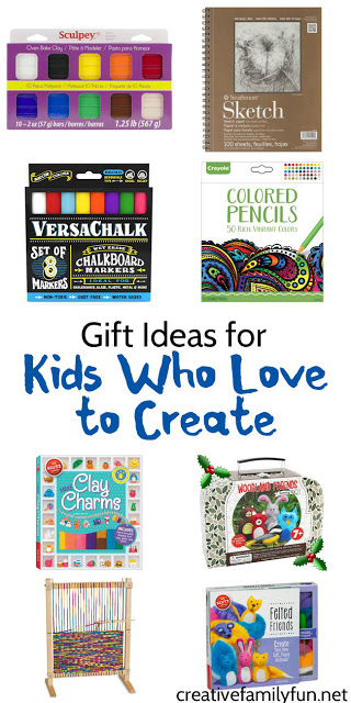 What kids of gift do you get for kids who love to create? Your creative kids will love one of the ideas in this gift guide.