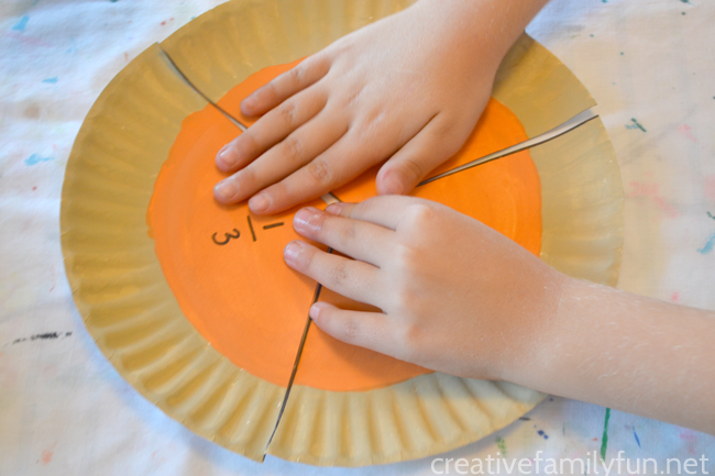 Learn all about fractions with this fun Thanksgiving math activity - Pumpkin Pin Fractions. There are so many different ways to play with this math tool.