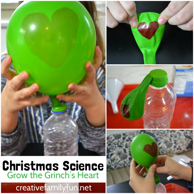Grow the Grinch's heart with this fun Christmas science activity based on this favorite book. It's a STEM activity with a Christmas twist.