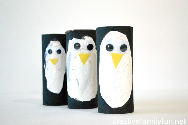 Cardboard Tube Penguin Craft