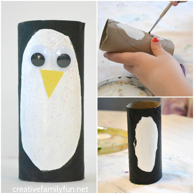 Grab some recycled materials to make this cardboard tube penguin craft. They're so cute and so easy to make that you'll want a whole colony of penguins.