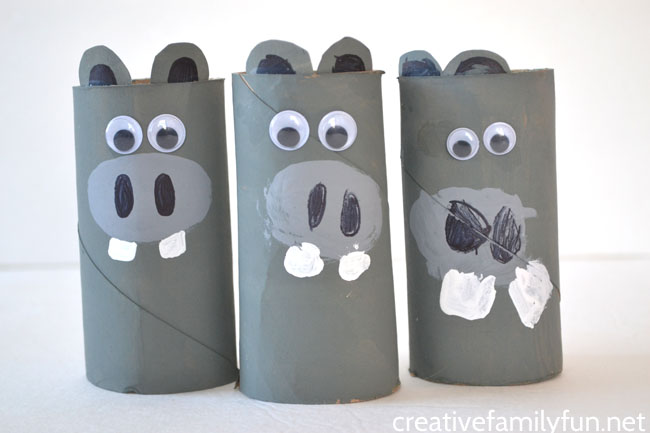 Cardboard Tube Hippo Craft