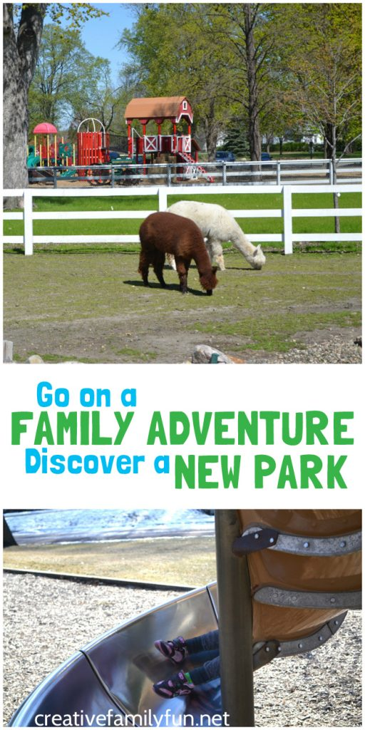 """Go on a fun and inexpensive family adventure by discovering a """"new to you"""" park together. You'll be able to get outside and have fun together."""