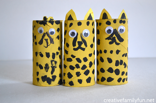 Cardboard Tube Cheetah Craft