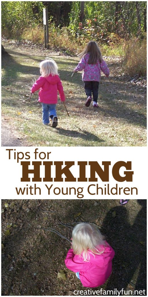 Yes, you can go hiking with young children. It's a fun and rewarding family activity. Find all the best tips for a successful hike with your toddlers and preschoolers here so you can plan a successful family hike.