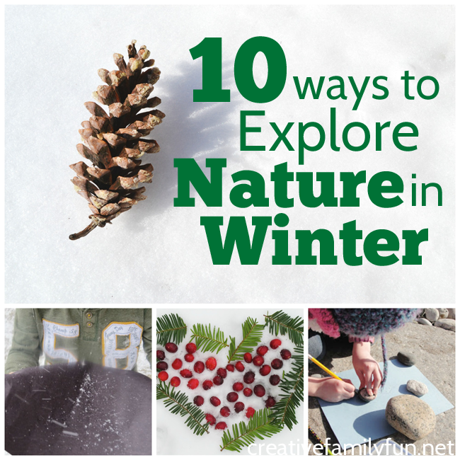 Even when the world is covered with snow, there are many fun ways to explore nature in winter with kids. Bundle up, go outside, and learn about snow, ice, and other things that are unique to winter.