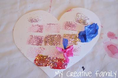 Sponge-Printed Valentines