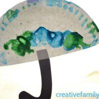Preschool Paper Plate Umbrella Craft