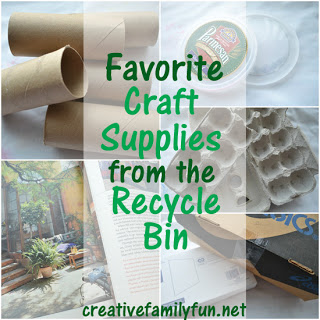 Favorite Craft Supplies From the Recycle Bin
