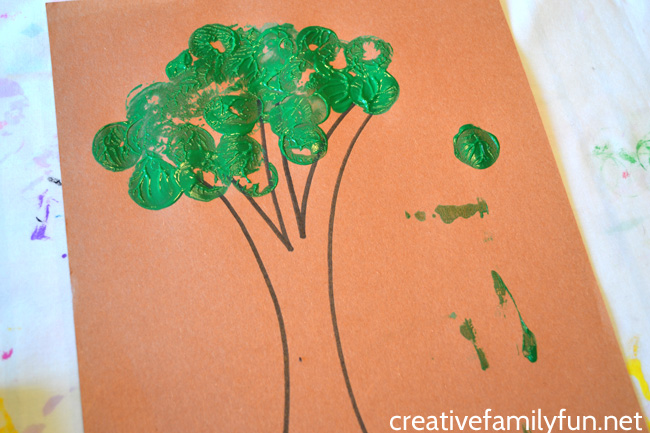 Cork Print Tree Craft for Toddlers