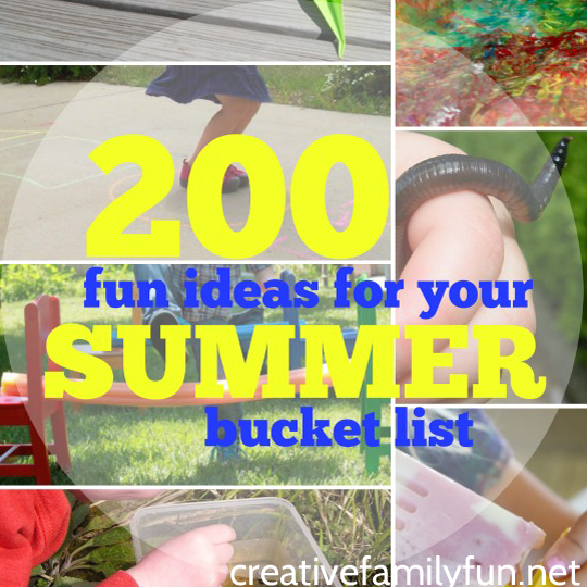 200 Fun Ideas for Your Summer Bucket List