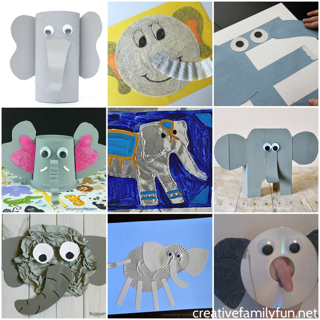 Add one of these fun elephant crafts for kids to your to-do list. You'll find great ideas for all kids from preschoolers to elementary kids to tweens.