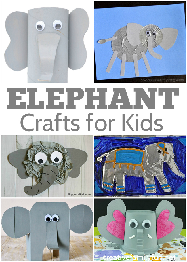 Elephants are so cute and so are these awesome elephant crafts for kids. These crafts are perfect for a zoo unit or an animal unit.