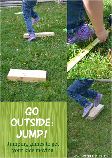 Go outside and jump! Kids will love playing these simple jumping games.