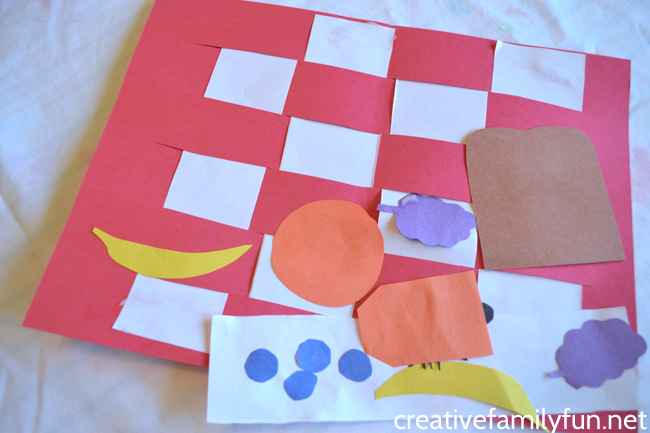 Picnic Blanket Collage Kids Craft