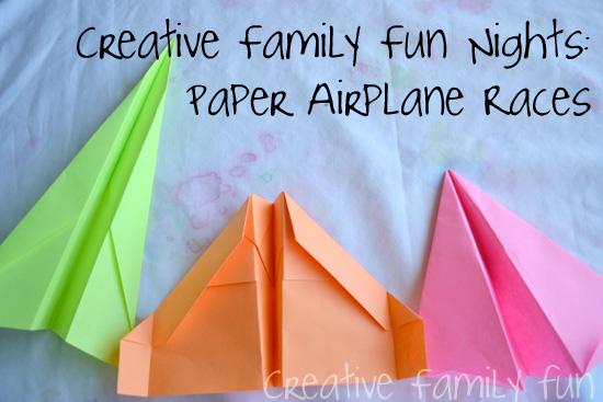 Creative Family Fun Nights: Paper Airplane Races