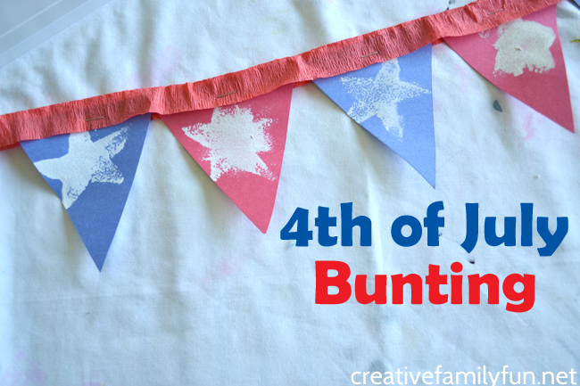 4th of July Bunting Kids Craft