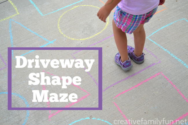 Outdoor Shape Activity: Driveway Shape Maze