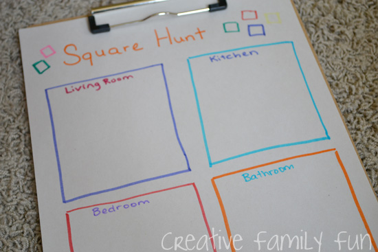 Math Play: Square Hunt