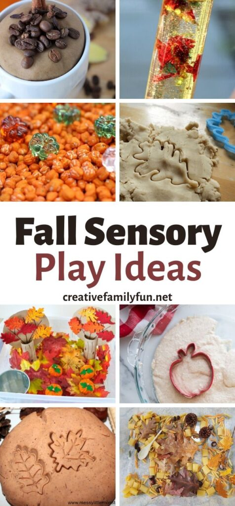 Delight the senses this autumn with this fun collection of fall sensory activities for kids which includes slime, playdough, sensory bins, and more.