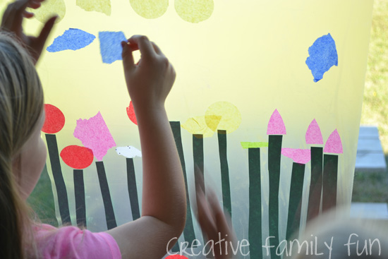 Kids will have so much fun making this fun flower suncatcher inspired by the book Planting a Rainbow. Brighten up your windows with this Planting a Rainbow collage suncatcher.