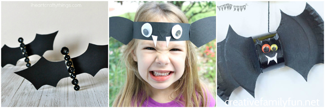 Awesome bat crafts for kids that are perfect for Halloween. These cute bat crafts are not at all spooky and make a fun Halloween decoration.