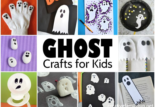 The Cutest Ghost Crafts for Kids