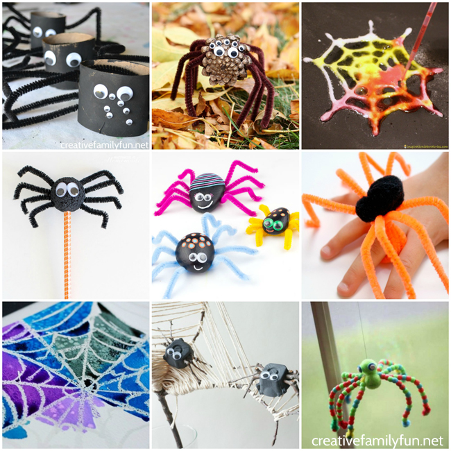 Make some spooky spiders with these fun Spider Crafts for Kids. These projects are fun for Halloween or any time of the year when you're learning about spiders.