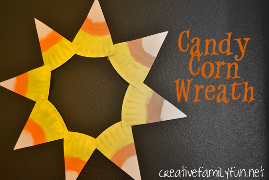 Get Crafty: Candy Corn Wreath