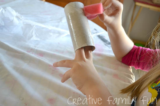 Grab some simple craft supplies and recycled materials for this cute Halloween craft: Cardboard Tube Halloween Mummy craft.