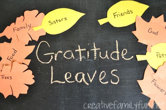 Get Crafty: Gratitude Leaves