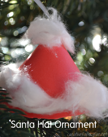 Santa Hat Ornament Creative Family Fun