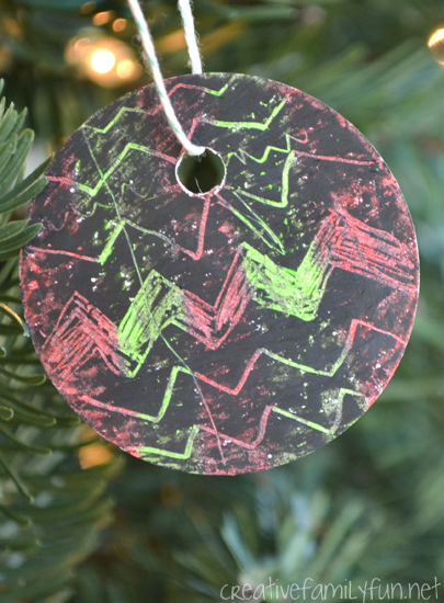 DIY Scratch Art Christmas Ornaments - Creative Family Fun